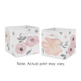 Floral Storage Fabric Bin (Set of 2) By Sweet Jojo Designs