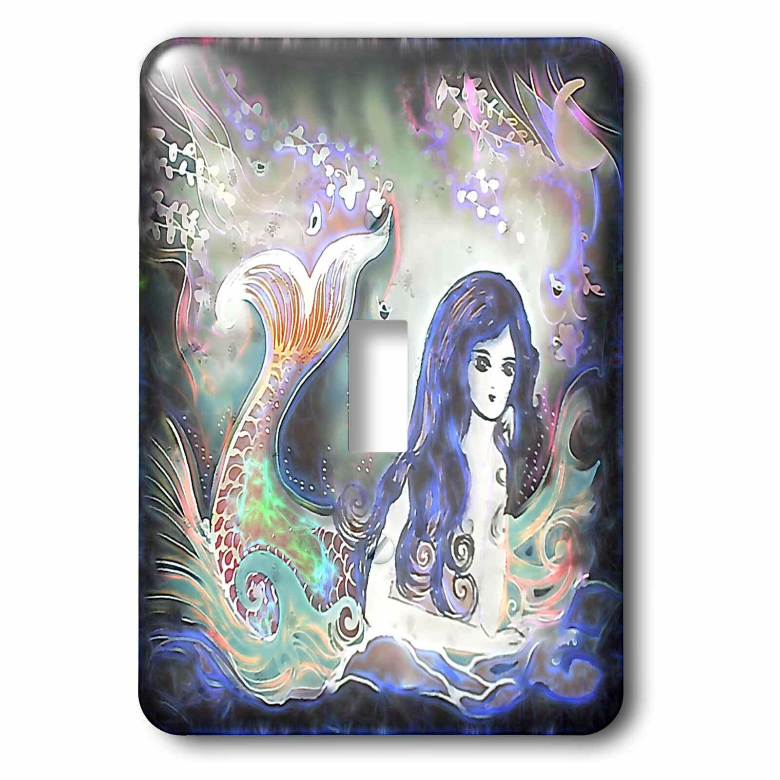 3drose Luminous Beautiful Mermaid In The Water Under The Moon Fantasy Art 1 Gang Toggle Light Switch Wall Plate Wayfair