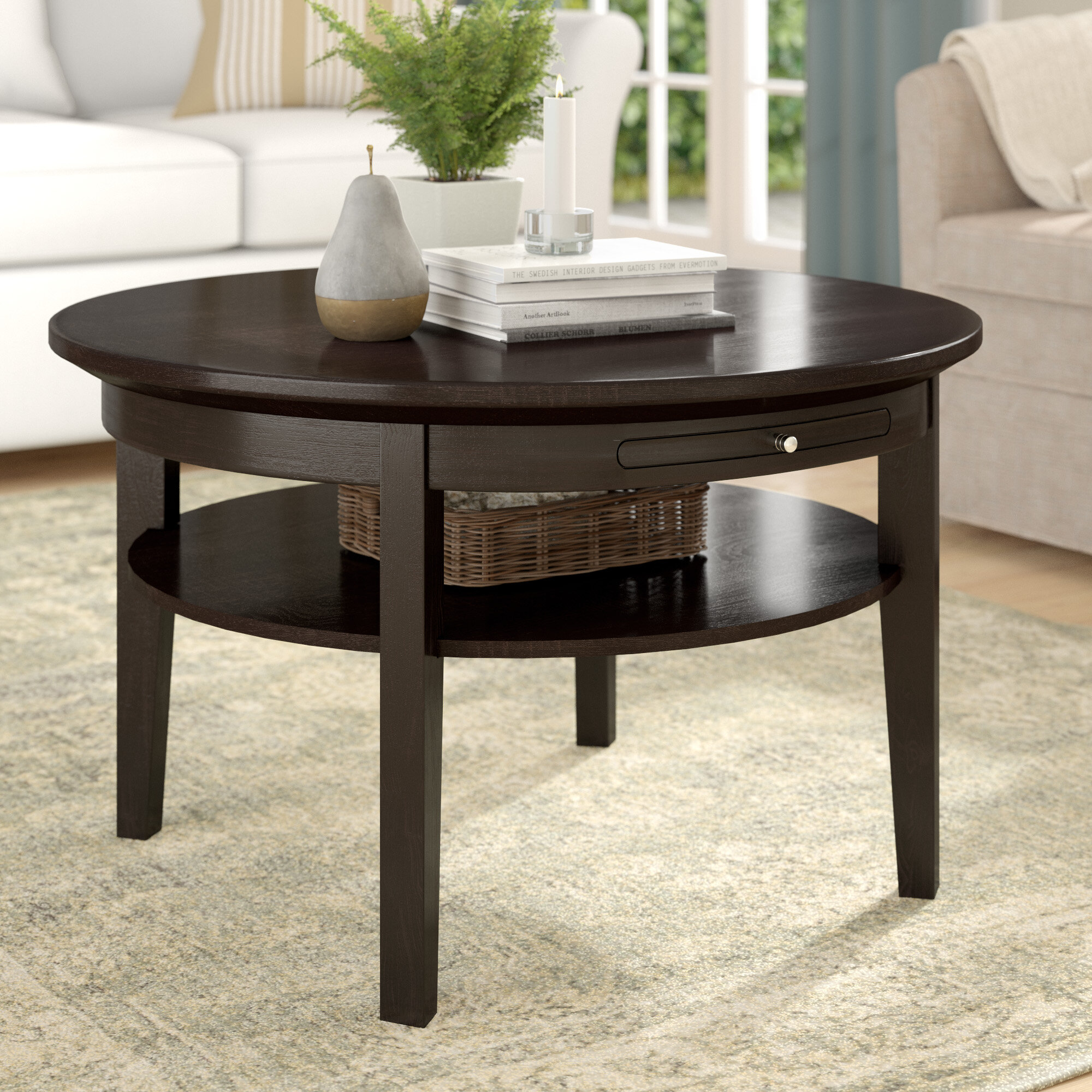 Espresso Wood Coffee Tables Free Shipping Over 35 Wayfair [ 2000 x 2000 Pixel ]