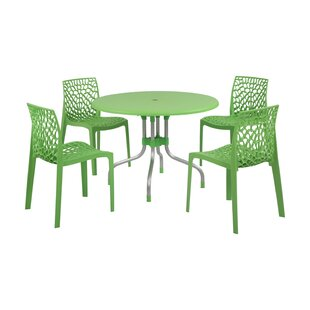 Brayden Studio Sletten 5 Piece Dining Set