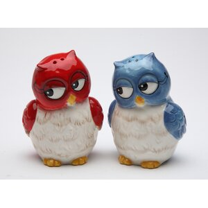 Couple Owls Salt and Pepper Set