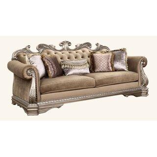 Amia Sofa w/5 Pillows by Rosdorf Park SKU:CD673801 Details