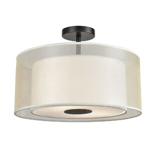 Deatsville 2-Light Semi Flush Mount by Charlton Home