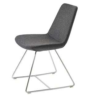 Pera Wire Base Wool Side Chair by B&T Design