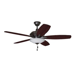 Best Review 52 Sabb 5 Blade LED Ceiling Fan By Charlton Home