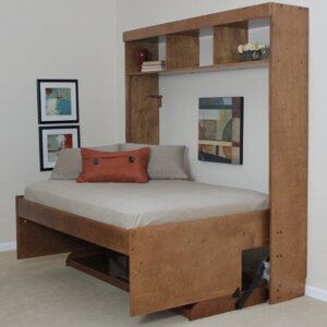 modern birch murphy bed - Enclosed Bed Frame