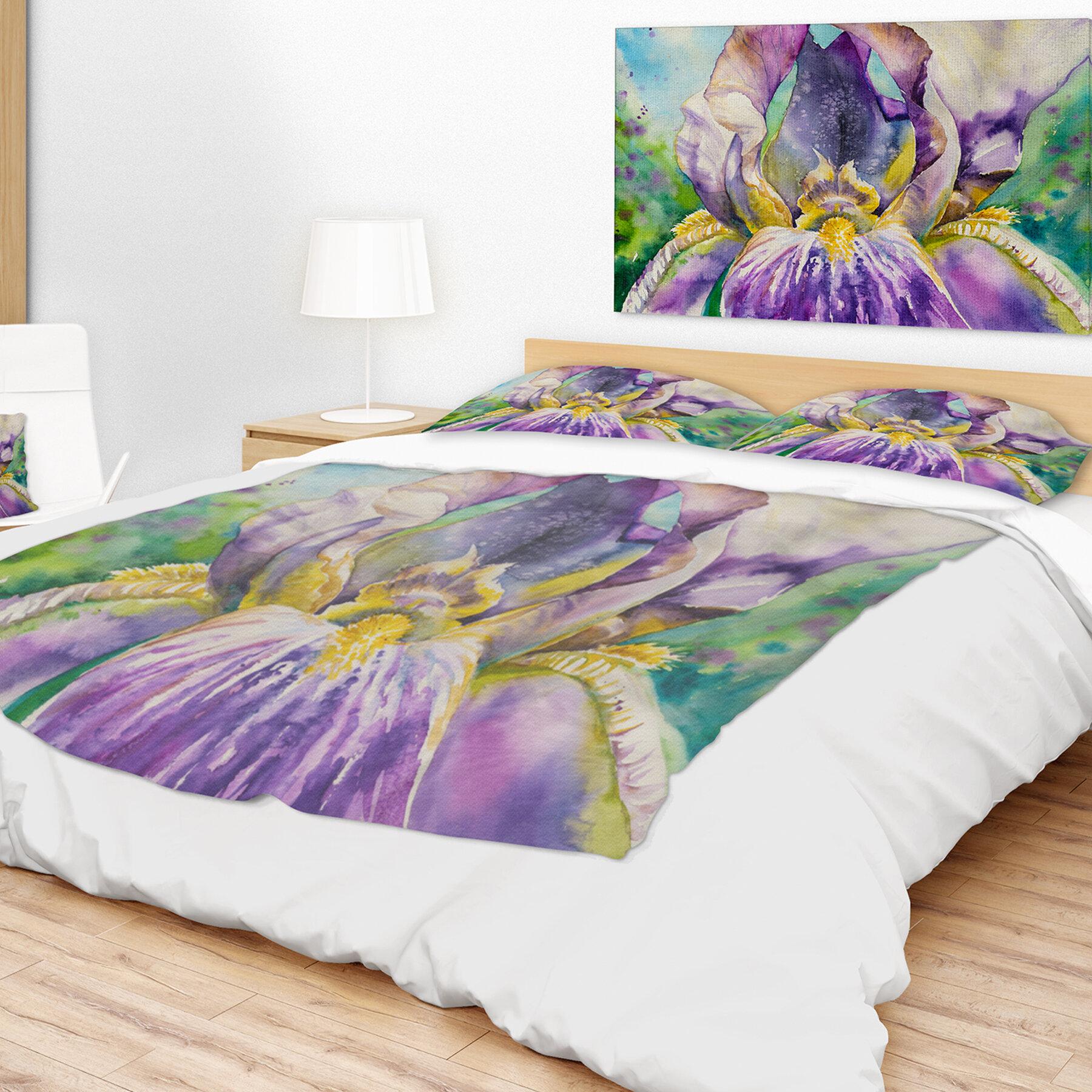 East Urban Home Iris Flower Close Up Blanket Wayfair Ca
