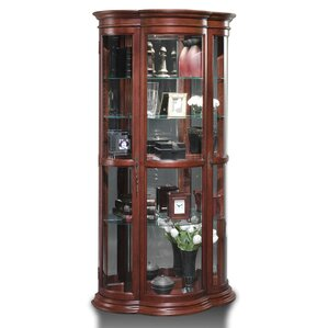 Doubleday Lighted Curio Cabinet by Astori..