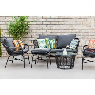 Sparks Outdoor 5 Piece Sofa Seating Group with Cushions