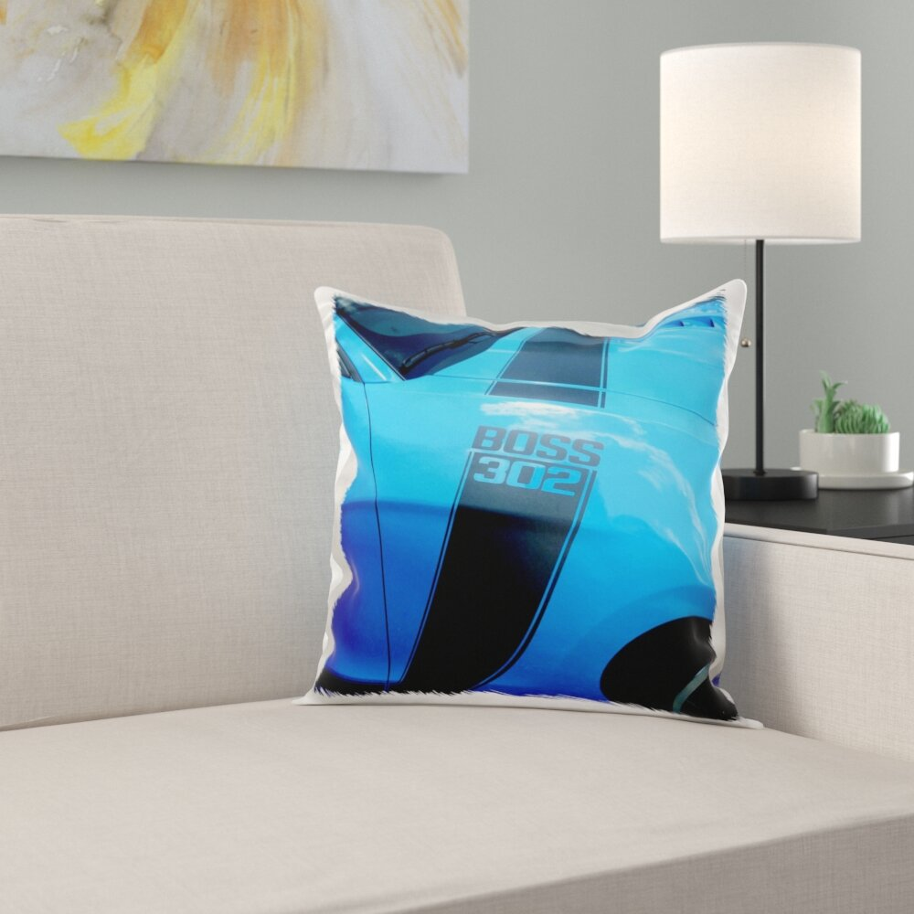 East Urban Home The Great Boss 302 Mustang At Car Show In Florida Pillow Cover Wayfair