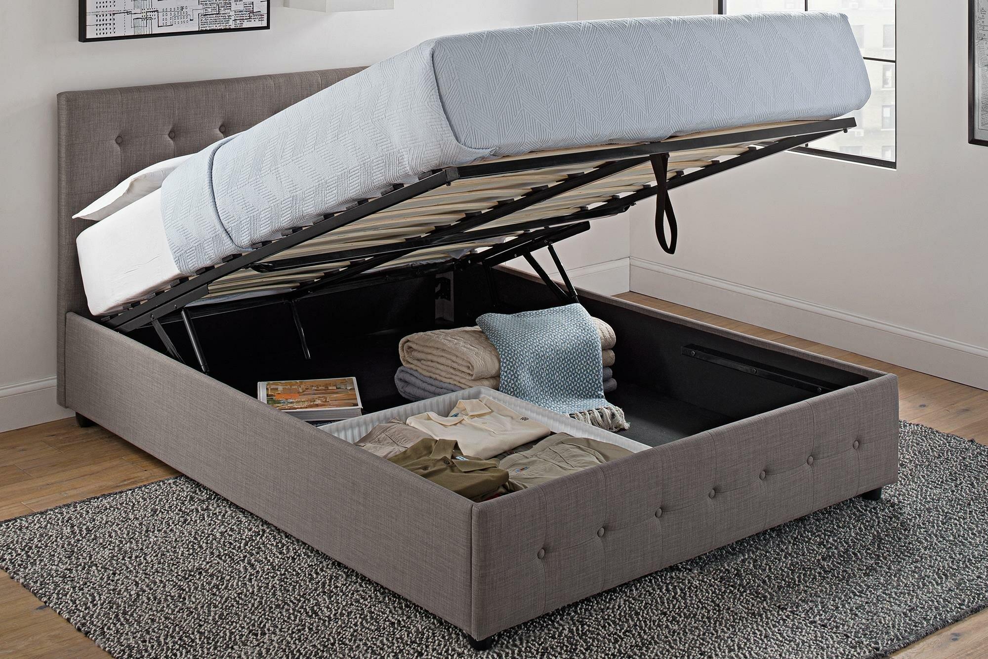Brayden Studio Morphis Upholstered Storage Platform Bed Reviews