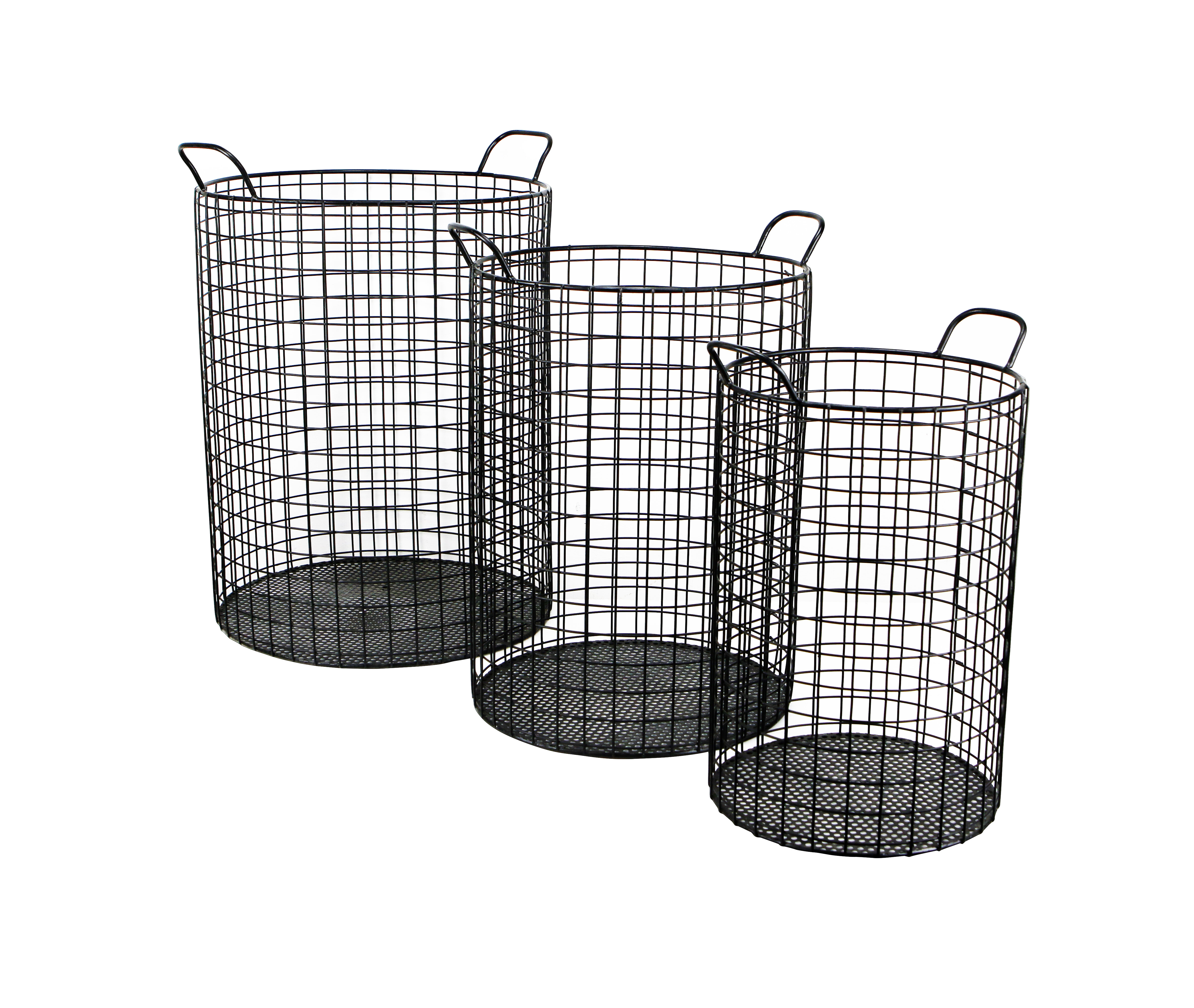 August Grove Emington Tall Cylinder Wire Storage Bins | Wayfair