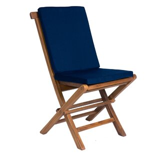 Ernst Folding Teak Patio Dining Chair with Cushion