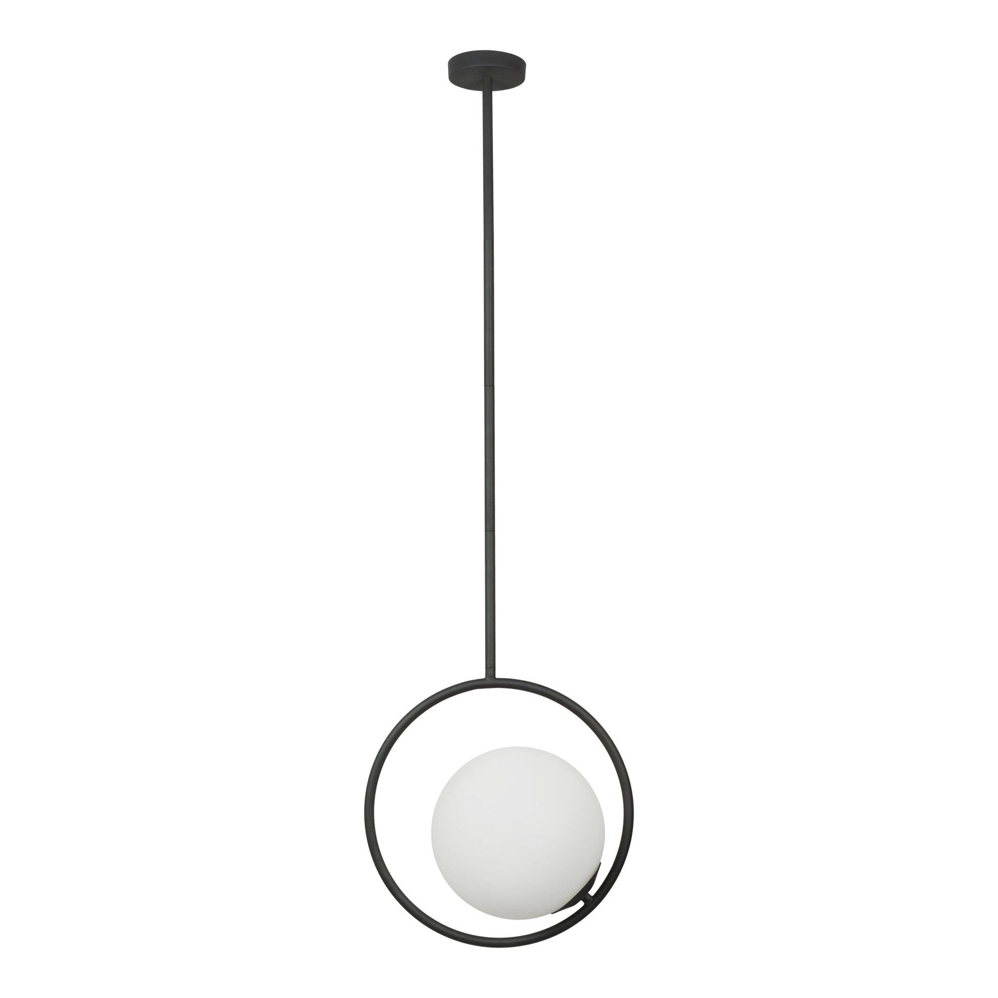 1 Light Single Globe Pendant Allmodern