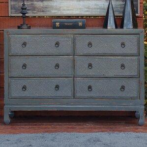 Devanna Antique Style 6 Drawer Double Dresser by Bloomsbury Market