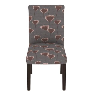 Heineman Poppy Upholstered Back Style Parsons Chair in Brown by Wrought Studio