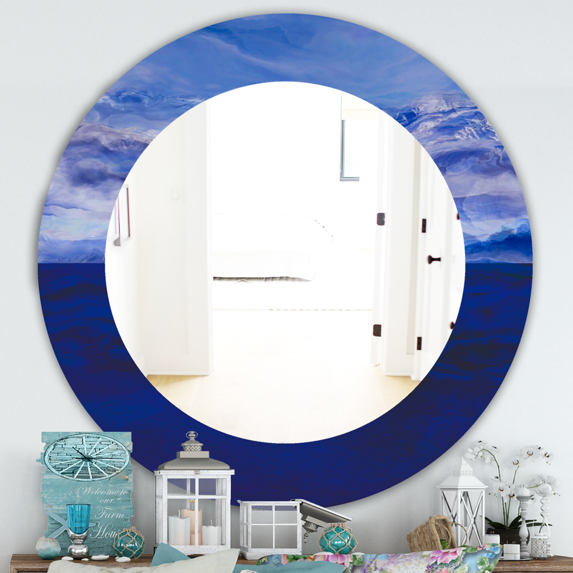 East Urban Home Vibe Traditional Frameless Wall Mirror