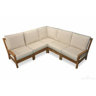 Pentwater Teak Patio Sectional with Sunbrella Cushions