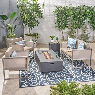 Lancelot 5 Piece Sofa Seating Group with Cushions