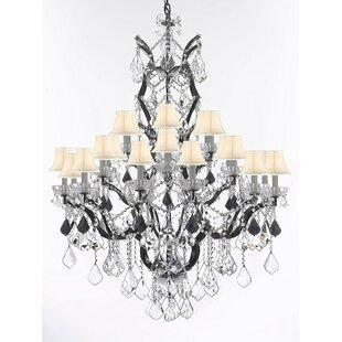 Astoria Grand Quillen Swarovski 25-Light Shaded Chandelier