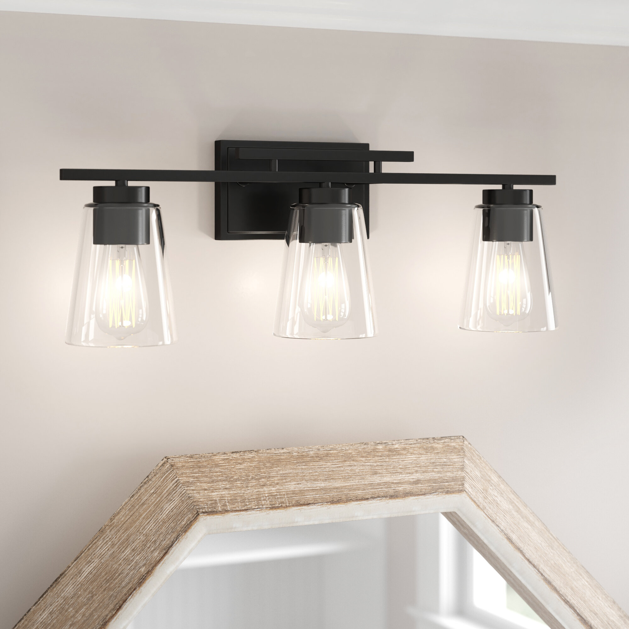 3 Light Black Bathroom Vanity Lighting You Ll Love In 2021 Wayfair