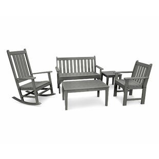 Vineyard 5 Piece Conversation Set by POLYWOOD?