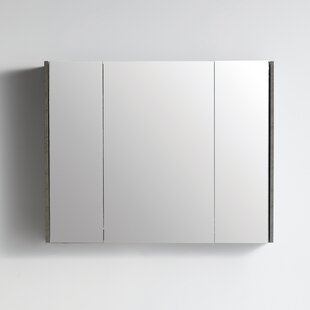 Tellara Surface Mount Frameless 3 Door Medicine Cabinet with 8 Adjustable Shelves by Orren Ellis