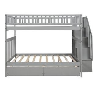 Murphey Full over Full Bunk Bed with Shelves and 2 Drawers