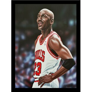 'Michael Jordan Chicago Bulls' Print Poster by Darryl Vlasak Framed Memorabilia by Buy Art For Less