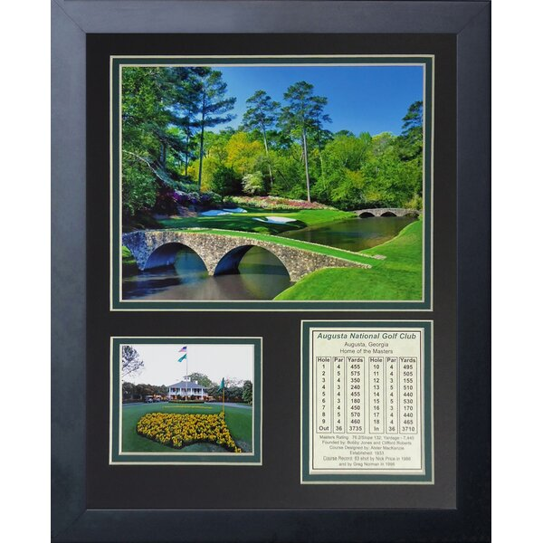 Three Posts Augusta National Golf Course Framed Memorabilia ...