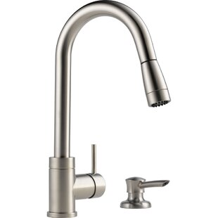 Integrated Pull Down Single Handle Kitchen Faucet with Soap Dispenser