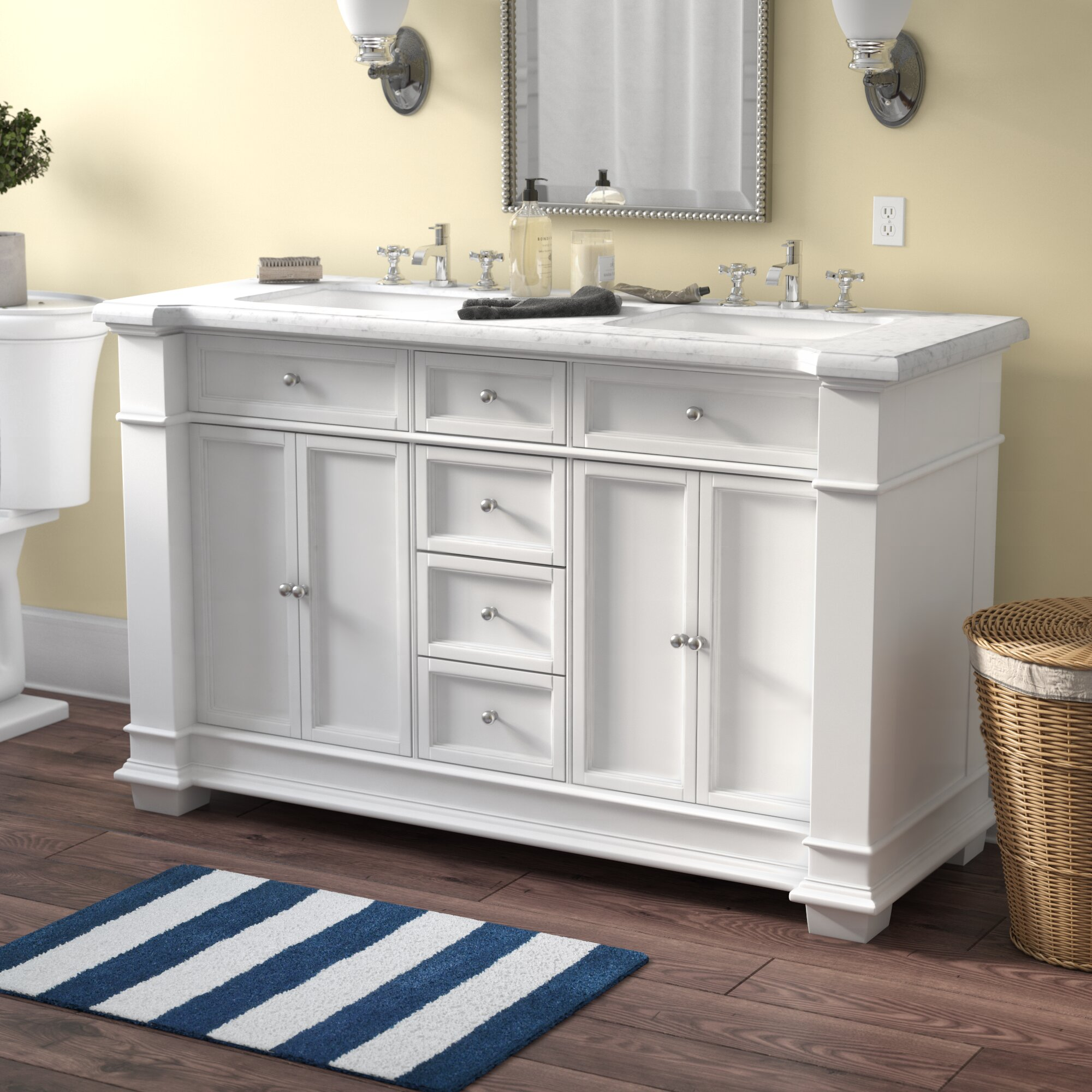 Darby Home Co Riccardo 60 Double Bathroom Vanity Set Reviews Wayfair