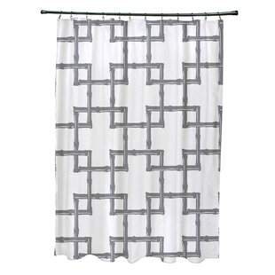 Connelly Polyester Bamboo 2 Geometric Single Shower Curtain