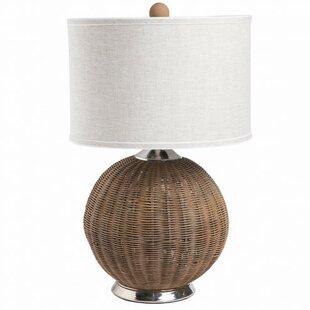 Rhoades Woven Rattan 25 Table Lamp