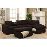 Hulett Right Hand Facing Sectional with Ottoman by Latitude Run®