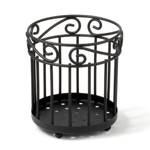 Scroll Pantryware Grande Utensil Holder in Black