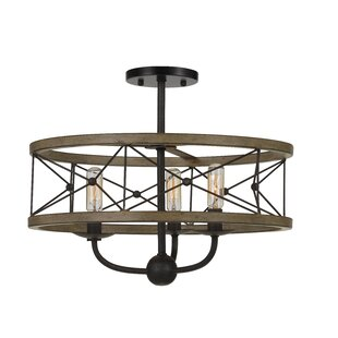 Williston Forge Edmonds Metal 3-Light Drum Chandelier