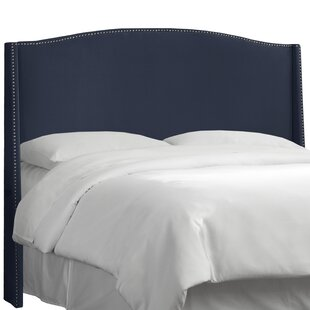Dowland Nail Button Upholstered Wingback Headboard