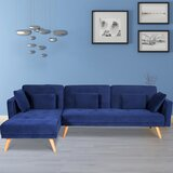 Allegro 102.36'' Left Hand Facing Sleeper Sofa & Chaise by George Oliver