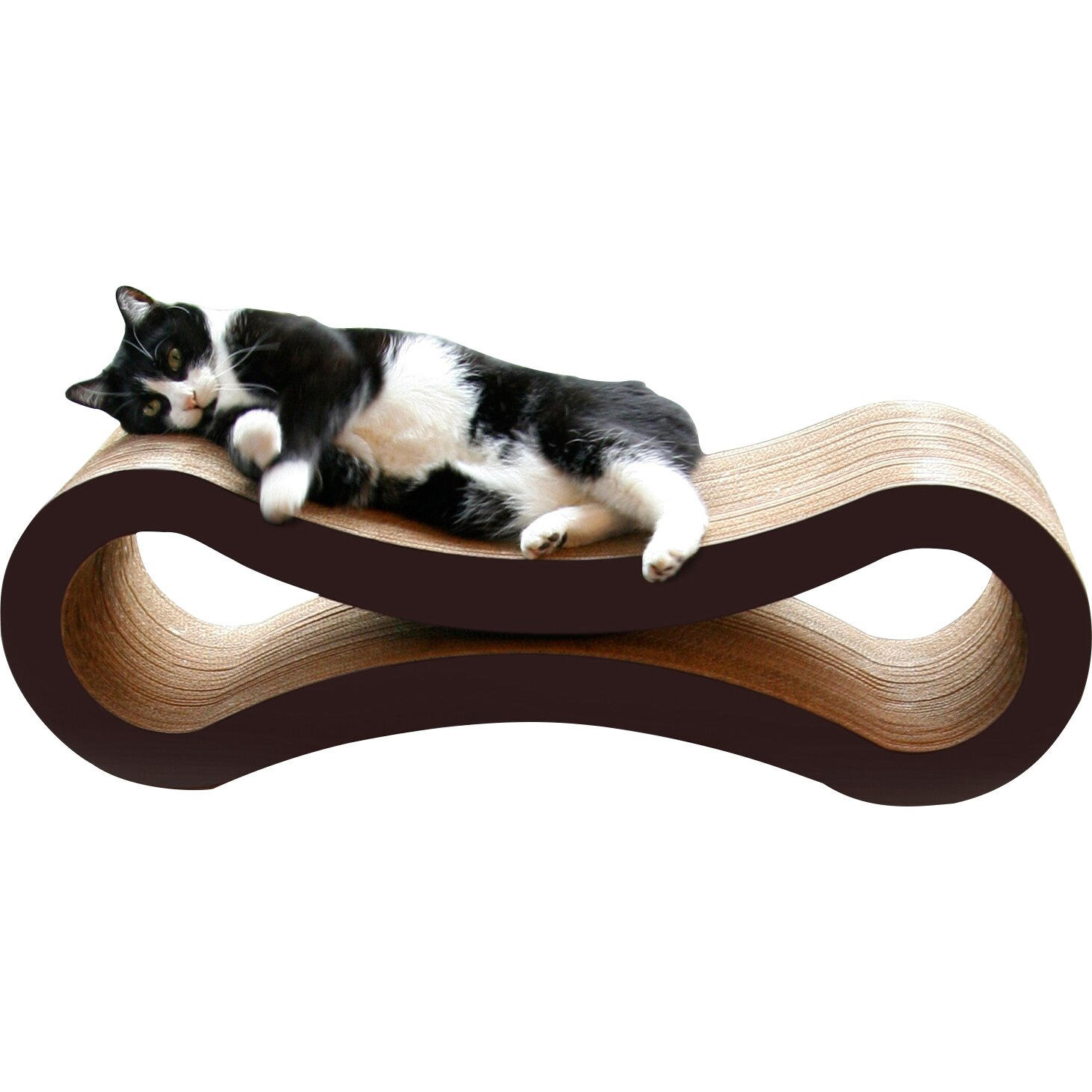 Petfusion ultimate cat scratcher lounge bed reviews wayfair - Cat bed scratcher ...