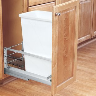 Plastic 6.75 Gallon Pull Out Trash Can Drawer by Rev-A-Shelf