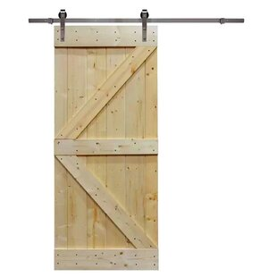 Knotty Pine Solid Wood Room Dividers Slab Interior Barn Door