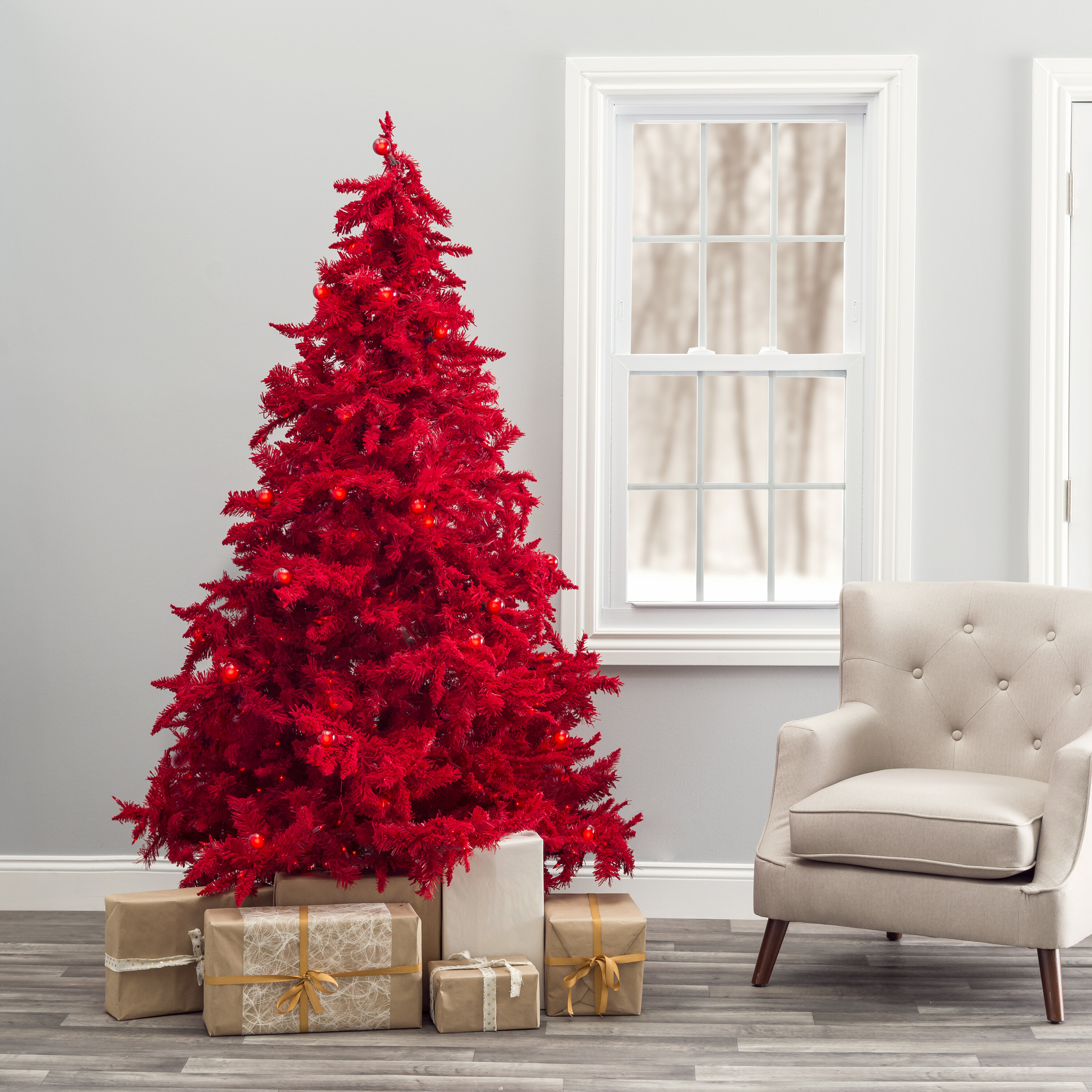 7 Foot The Holiday Aisle Flocked Christmas Trees You Ll Love In 2021 Wayfair