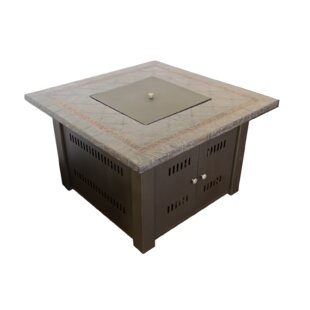 Faux Stone Steel Propane Fire Pit Table