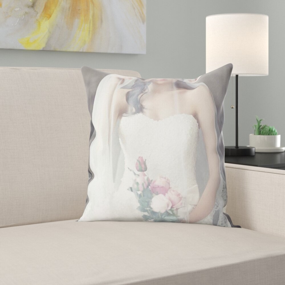 East Urban Home Wedding Dresses Throw Pillow Wayfair