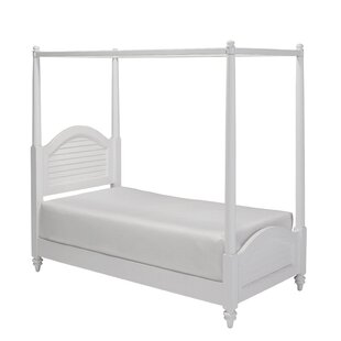 Harrison Twin Canopy Bed By Beachcrest Home
