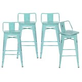 Badillo Swivel Solid Wood Bar & Counter Stool (Set of 4) by Longshore Tides