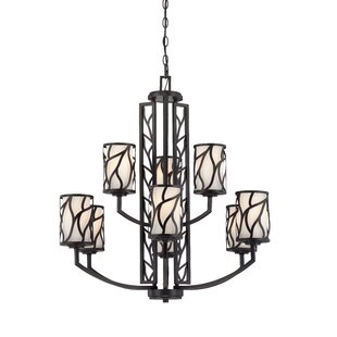 Designers Fountain Modesto 9-Light Shaded Chandelier Chandelier