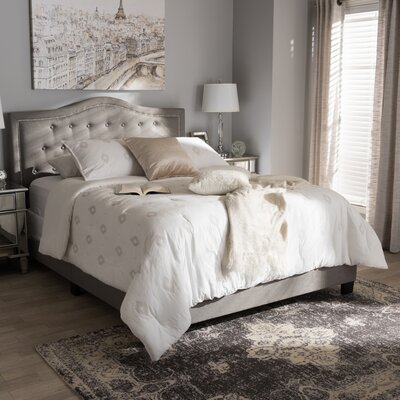 Roberto Fabric Upholstered Panel Bed