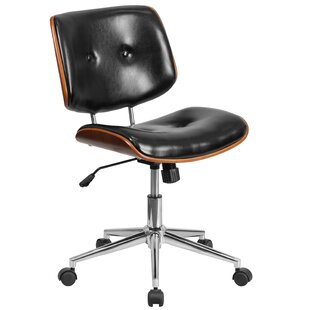 Symple Stuff Wysocki Mid-Back Leather Desk Chair